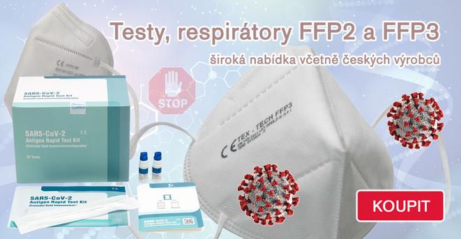 Antigenní testy a respirátory
