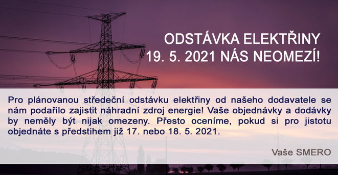 Odstávka elektřiny nás neomezí